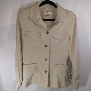 DRESS BARN Khaki Safari Blazer